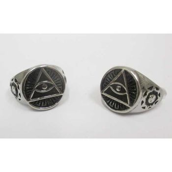 bague triangle oeil
