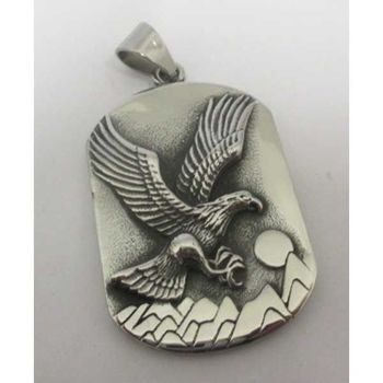 eagle pendant on plate