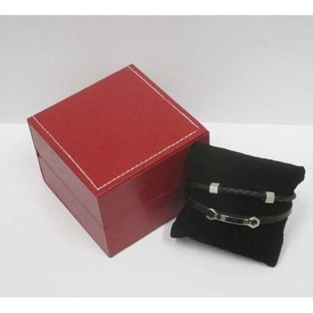 wristwatch key leather bracelet in its gift box