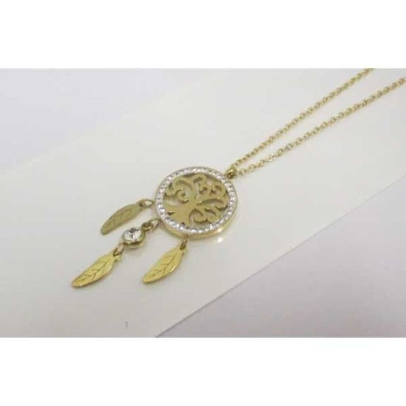 pendant necklace catches dream tree of life