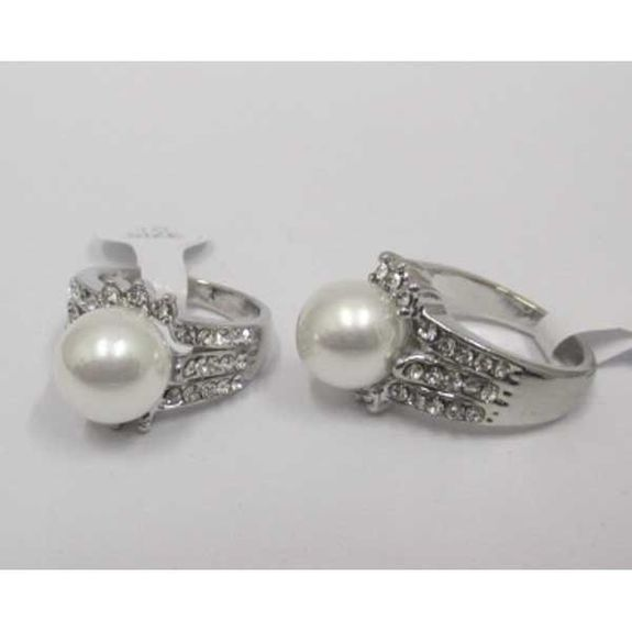 pearl crystal women's ring