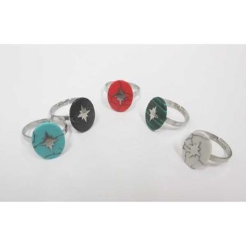 North Star Steel Ring Jewelry