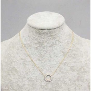 crystal ring pendant necklace