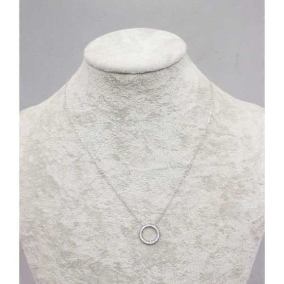 ring crystal steel necklace woman