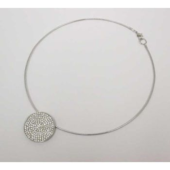 crystal round choker necklace