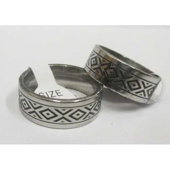 steel tribal ring