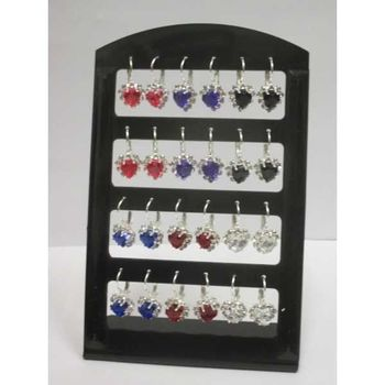 crystal heart earring of all colors