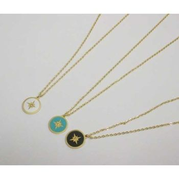 north star steel necklace jewelery