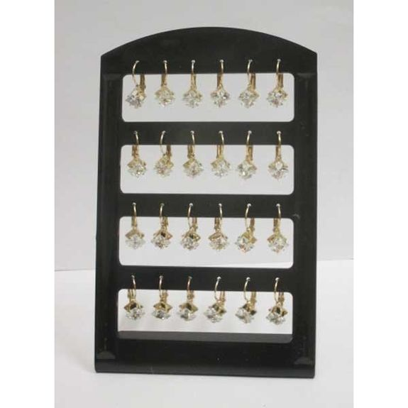 square crystal earring