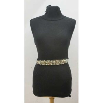 brown crystal women's belt