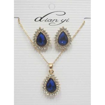 blue drop crystal drop adornment