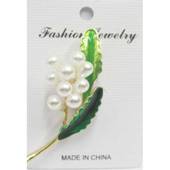 jewelry pin pin's flower pearl