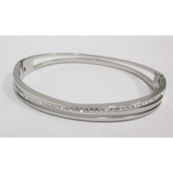 crystal steel woman's bracelet