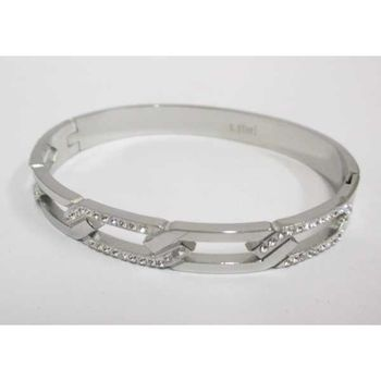 steel bracelet rush mesh woman crystal