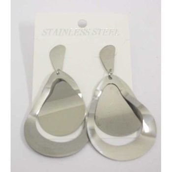 fashion steel earring ripples
