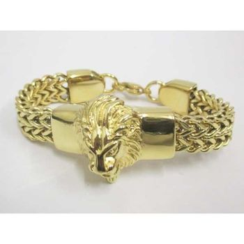 knit bracelet head lion african jewelry