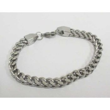 bracelet chain small diameter double mesh gourmette