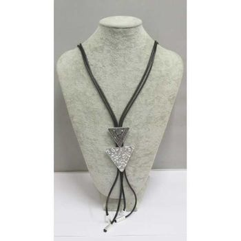long necklace small and big triangle