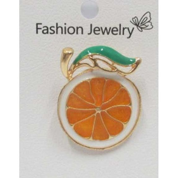 bijoux broche pin's orange fruit