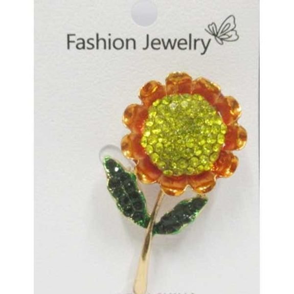 sunflower flower brooch jewelry