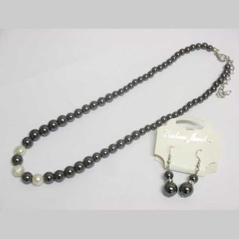 lot hematite necklace with earring