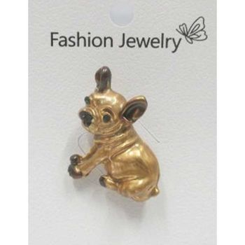 bijoux broche pin's bulldog