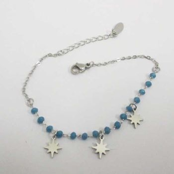 fine steel pearl star bracelet jewelry