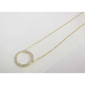 steel gold crystal ring necklace