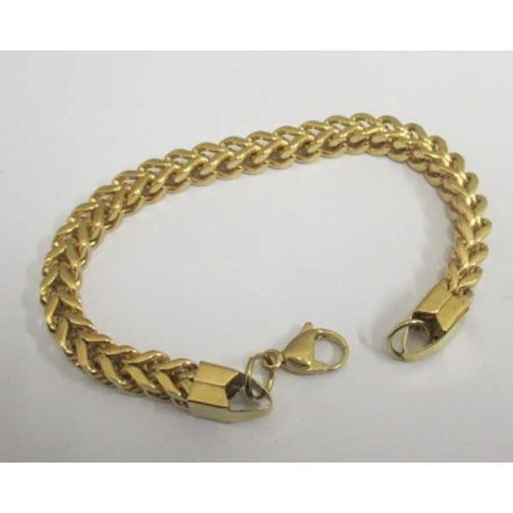 small steel double mesh bracelet