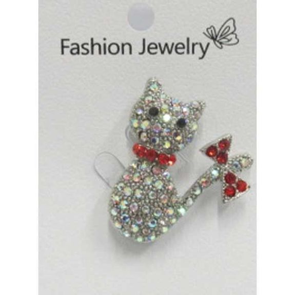 bijoux broche chat noeud papillon