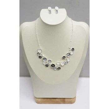 black white enamel necklace jewelry