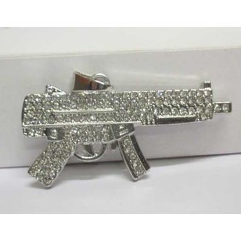 SMG hip hop machine gun pendant