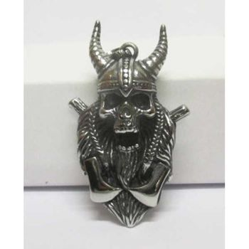 steel viking pendant
