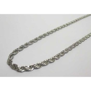 twisted steel rope chain for pendant