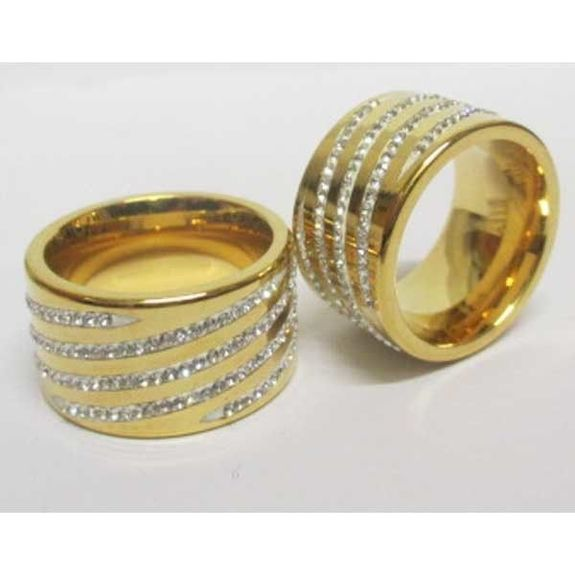 steel ring ring with crystal