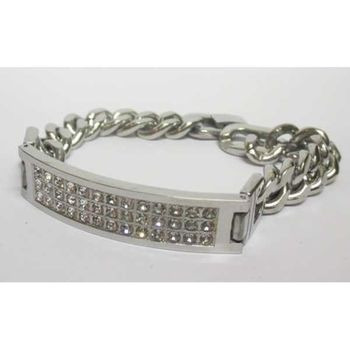 curb chain crystal jewelry hip hop