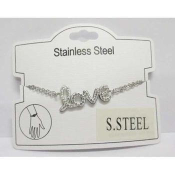 Love steel flexible bracelet