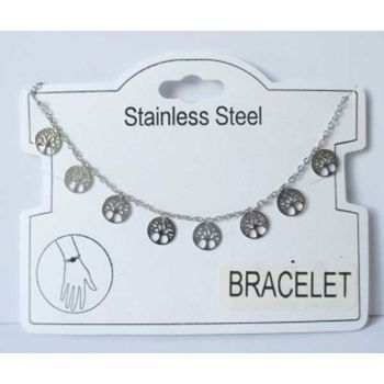 flexible bracelet tree of life steel beads
