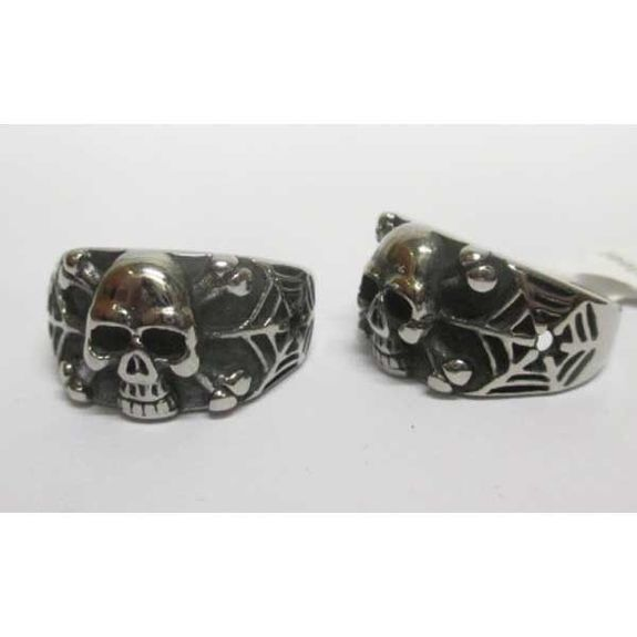 spider web skull ring