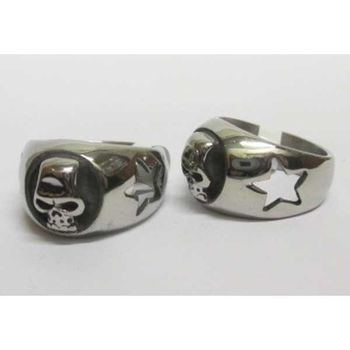 star skull ring on steel side