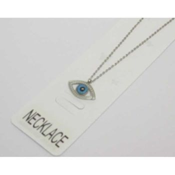 Steel blue eye pendant