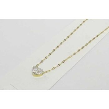 steel gold heart chain jewelry