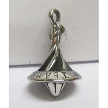 steel spinning top pendant