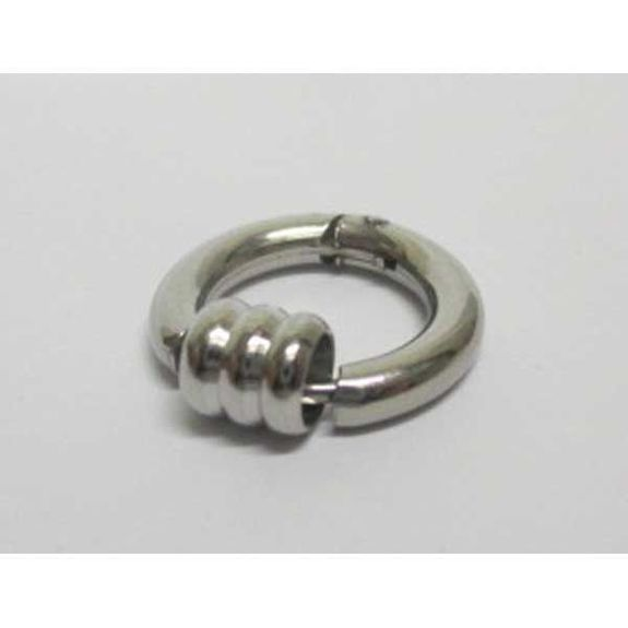 twisted tribal ring earring