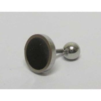 round piercing style earring