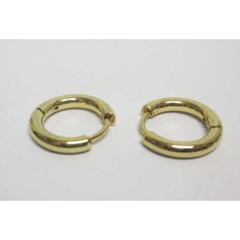 round earring steel ring gold