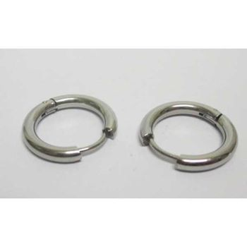 earring round ring steel man woman