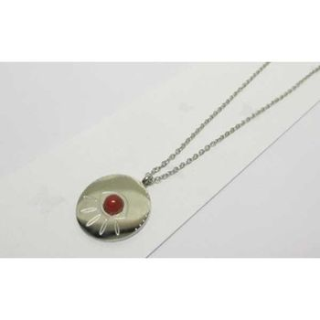 steel red eye pendant
