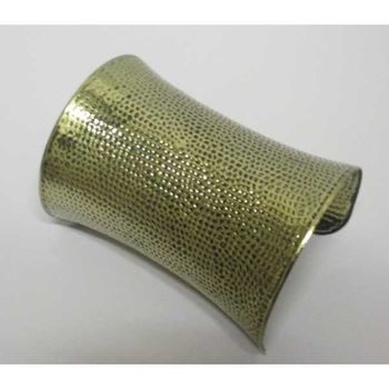 antique gold granulated cuff