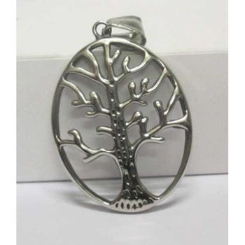 elongated tree of life pendant